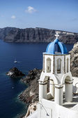View of caldera with churches  — Stock Photo