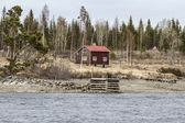 Old wooden cabin — Stock Photo