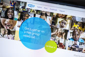 Skype's website — Stock Photo