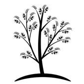 Art Tree Silhouette  — Stockvector