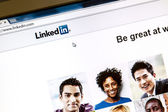 Linkedin webpage — Stock Photo
