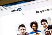 Linkedin webpage — Stock Photo