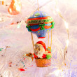 Christmas decorations in a white tree. - Stock Photo
