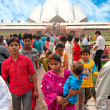 NEW DELHI . NOVEMBER 2007: at the Baha\'i House of worship — Stock Photo