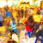 Постер, плакат: BANGKOK NOVEMBER 05: Thai selling flower during Loy Kr