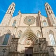 The Cathedral of Santa Maria del Mar, Barcelona. — Stock Photo