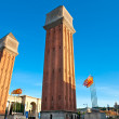Royalty-Free Stock Photo: View of the Venetian Tower on Espanya square, Barcelona. Spain.