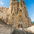 BARCELONA, SPAIN - DECEMBER 14: La Sagrada Familia - the impress — Stok fotoğraf