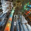 BARCELONA, SPAIN - DECEMBER 14: La Sagrada Familia - the impress — Stock Photo