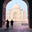 Taj Mahal at sunset, Agra, Uttar Pradesh, India. - Lizenzfreies Foto