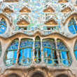 BARCELONA DECEMBER 16: The facade of the house Casa Battlo (also could the house of bones) designed with his famous expressionistic style on December 16, 2011 Barcelona, Spain — Stock Photo #12236665