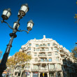 BARCELONA, SPAIN - DECEMBER 18: Casa Mila, or La Pedrera, on Dec — Stock Photo