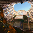 BARCELONA, SPAIN - DECEMBER 18: Casa Mila, or La Pedrera, on Dec - Lizenzfreies Foto