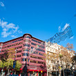 Avinguda Diagonal, barcelona, Spain. - Stock Photo