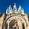 Tibidabo church in Barcelona, Spain. - Stock Photo