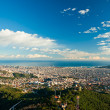 View of barcelona from Tibidano, Barcelona, Spain. - Stock Photo