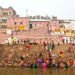 Stock Photo: VARANASI, INDI- 03 DECEMBER unidentified group of Indipe