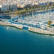 Barcelona port view from the air. — Stock Photo