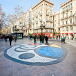 Royalty-Free Stock Photo: BARCELONA, SPAIN - DECEMBER 20: La Rambla on December 20, 2011 i