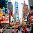 NEW YORK CITY -MARCH 25: Times Square, featured with Broadway Th - Stock Photo