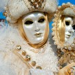 VENICE - MARCH 05: Participant in The Carnival of Venice, an ann — ストック写真