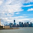 The Statue of Liberty and Manhattan Skyline, New York City. USA. — Stock Photo #12237372