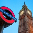 LONDON MARCH 17: The Big Ben. The London 'Underground' logo will be used for other transportation systems - has been announced by Transport for London (TfL), taken March 17, 2011 in London — Stock Photo #12237953