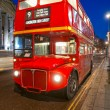 Stock Photo: Old double-decker bus, London.