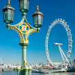 LONDON - MARCH 19 : The London Eye, erected in 1999, is a giant — Stock Photo