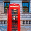 Red telephone box and Big Ben. London, UK — Stock Photo