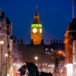 The Big Ben, view from trafalgar square, London, UK. — Stock Photo