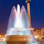 Ночной выстрел Трафальгарская площадь, Лондон, Великобритания — Стоковое фото