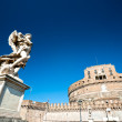 Stock Photo: Castel Sant'angelo and Bernini's statue on bridge, Rome, Ita