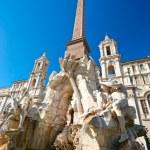 Neptune fountain in Piazza navona, Rome, Italy. — Stock Photo