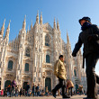 Постер, плакат: MILAN DECEMBER 11: Tourists at Piazza Duomo on December 11 20