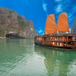 Stock Photo: Halong Bay, Vietnam. Unesco World Heritage Site.