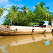 Boats in a harbor in the Mekong delta, Can Tho, Vietnam — Stock Photo