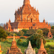 Bagan at Sunset, Myanmar. - Stock fotografie