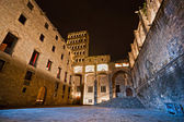 Barcelona: medieval Palau Reial (Royal Palace in catalan) at Pla — Stock Photo