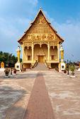 Wat That Luang, Laos. — Foto de Stock