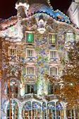 BARCELONA - DECEMBER 16: The facade of the house Casa Battlo — Stock Photo