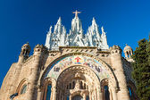 Tibidabo church in Barcelona, Spain. — Stock Photo