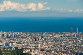 View of barcelona from Tibidano, Barcelona, Spain. — Stock Photo