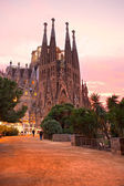 BARCELONA, SPAIN - DECEMBER 14: La Sagrada Familia - the impress — Stock Photo