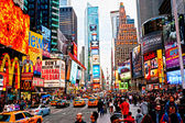 New york city -march 25: times square, descritto con broadway th — Foto Stock