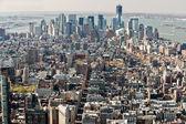 Manhattan, new york city. spojené státy americké. — Stock fotografie