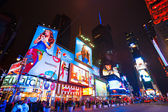 New york city 25 maart: times square is gekenmerkt met theaters van broadway en geanimeerde led tekenen, is een symbool van new york city en de verenigde staten, 25 maart 2012 in manhattan, new york city. verenigde staten. — Stockfoto