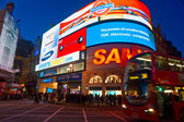 LONDON - MARCH 03 View of Piccadilly Circus on March 03, 2011 in — Stock Photo