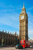 The Big Ben, the House of Parliament and the Westminster Bridge — Foto de Stock