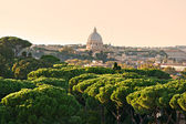 San Peter square, Rome, Italy. — Stock Photo